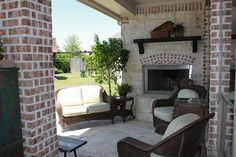 Outdoor Covered Patio with Fireplace