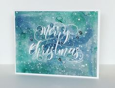 Happy World Cardmaking Day! I'm so exited to be joining Simon Says Stamp along with 18 other talented card makers from around t. Christmas Cards 2017, Christmas 2014, Handmade Christmas, Holiday Cards, Christmas Ideas, Xmas, Paper Art, Paper Crafts, Watercolor Christmas Cards