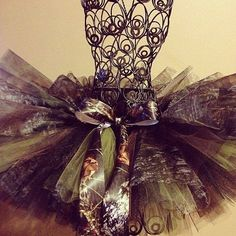 Flower girl outfit Mossy Oak Camo Tutu. $25.00, via Etsy.