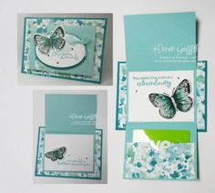 Two for Thursday ~ Adorable gift card holder for any occasion videos Fancy Fold Cards, Folded Cards, Dawns Stamping Thoughts, Gift Cards Money, Butterfly Cards, Stampin Up Cards, Cute Gifts, Cardmaking, Butterflies