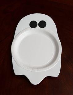 Easy halloween ghost plate - DIY