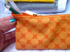 """Sew Easy, Please! presents """"Zipper Pencil Case Tutorial"""".    Learn how to sew an easy zipper pencil case!    Check out my website for additional steps, details, other projects, and sewing tips!  http://seweasy-please.zxq.net/"""