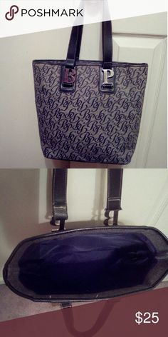 Baby Phat Tote Handbag Nice used Tote bag, in good condition. Navy blue handles & trim,inside Navy blue. One zipper pocket inside. Baby Phat Bags Totes