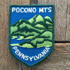Pocono Mountains Pennsylvania Vintage Souvenir Travel Patch from Voyager - LAST ONE! by HeydayRoadTrip on Etsy