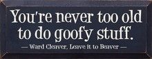 You're Never Too Old To Do Goofy Stuff. - Ward Cleaver Quote