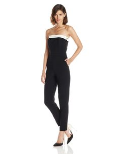 Amazon.com: Trina Turk Women's Iona Strapless Jumpsuit: Clothing