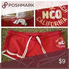 Cute red Hollister sport shorts Cute red Hollister sport shorts Hollister Shorts