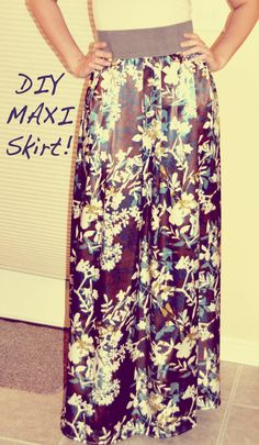 DIY MAXI SKIRT TUTORIAL! Fun 4 Nattie n Me!!!.....That's me!;)