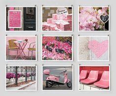Paris Photography Collection, Pink - French Fine Art Photograph Prints, Paris Decor, Large Wall Art, Pink Wall Decor, Color Photography