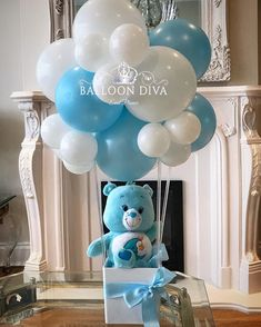 Baby shower centerpieces for girls balloons diaper cakes ideas Baby Shower Decorations For Boys, Boy Baby Shower Themes, Baby Shower Balloons, Baby Shower Favors, Baby Shower Parties, Baby Boy Shower, Baby Shower Gifts, Hot Air Balloon Centerpieces, Balloon Decorations Party