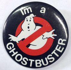 Vintage Ghostbuster's Movie Memorabilia 1984 Pin Back