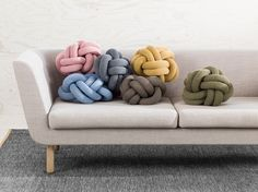 Colorfully Crafted Knot Cushions You Can Easily Reshape - My Modern Met