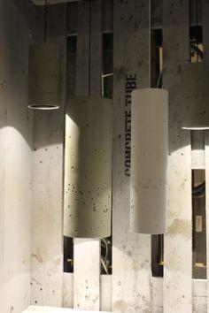 Lichtgewicht betonlook lampen - gezien bij Wever & Ducré #DesignDistrict 2014