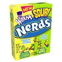 Wonka Sour Nerds Candy With Lemon & Apple Flavors « Lolly Mahoney