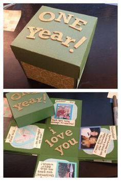 Did the exploding box for my one year anniversary with my boyfriend. It was surprisingly easy! I also put a gift card in the box. #boyfriendgift