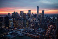 New York City Feelings - New York City sunset by @ch3m1st  @NYonAir
