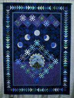 Quilt patterns on pinterest quilt patterns cat quilt for Outer space quilt patterns