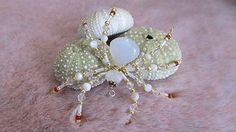 Beaded Sun Catcher- Hanging Opal & Moonstone Spider Ornament - Crystal and Glass Wedding Spider