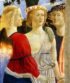 Piero Della Francesca The Baptism of Christ, detail Renaissance Artists, Renaissance Paintings, Italian Renaissance, Andrea Mantegna, Baptism Of Christ, Tempera, Giorgio Vasari, Fra Angelico, National Gallery