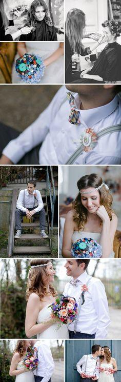 Hochzeitsdeko in kräftigen Farben