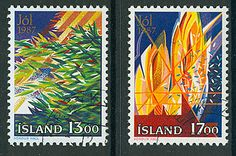 Iceland Christmas stamps, 1987 Iceland Christmas, Stamp World, Iceland Island, Love Stamps, First Anniversary, Stamp Collecting, Postage Stamps, Vikings, Postcards