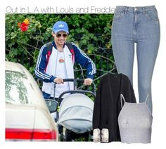 """Out in L.A with Louis and Freddie"" by chocapiick ❤ liked on Polyvore featuring Topshop, Glamorous, Converse, OneDirection, louistomlinson and onedirectionoutfits"