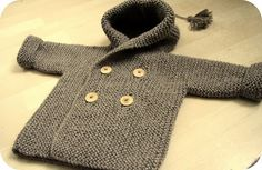 HOW TO KNIT - BABY PEACOAT