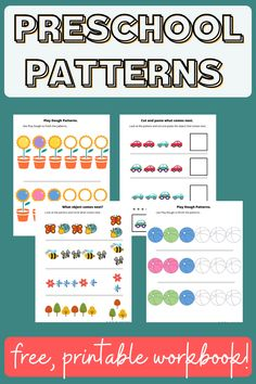 Free printable preschool pattern workbooks, pattern activity pages, pattern activities for homeschool, classroom, summer. #preschoolpatternactivities#preschoolpatternsprintablefree#preschoolpatternworksheets#preschoolpatternactivitiesathome#patternpreschoolactivitiesideas Pre K Activities, Preschool Learning Activities, Free Preschool, Learning Games, Hands On Activities, Teaching Kids, Weather Science, Engage In Learning, Kindergarten Readiness