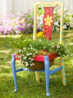 chairs decorated for garden | Creative Chair Planters For Home Garden small-and-creative-chair ...