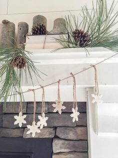 This salt dough Christmas garland is so easy to make.  Involve the kids!