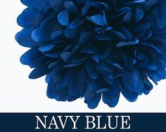 Navy Blue / Tissue Paper Pom / Party decoration / Wedding tissue pom / Birthday Party / New Year tissue / Baby shower / Anniversary
