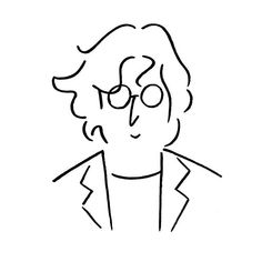 John Lennon - The Beatles Les Beatles, Beatles Art, Illustrations, Illustration Art, Line Art, Beatles Tattoos, Minimalist Drawing, Graphic, Line Drawing