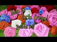 Rose in Carta Crespa in pochissimi secondi! - Tutorial #1 • •• AhC •• •