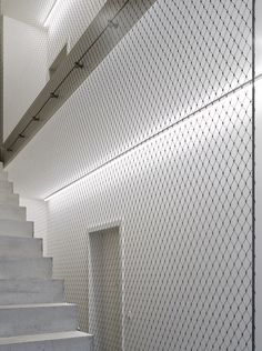 Stairwell, © Stefan Müller - All About Balcony Concrete Staircase, Metal Stairs, Stair Handrail, Staircase Railings, Modern Stairs, Staircase Design, Stairways, Industrial Architecture, Architecture Details