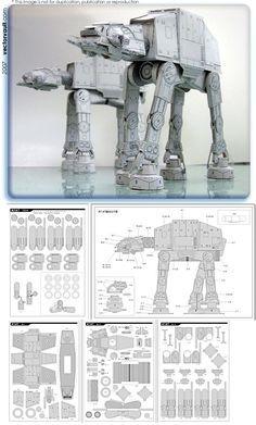 Star Wars - Papercraft AT-AT #starwars #papercraft  http://www7a.biglobe.ne.jp/~sf-papercraft/sifi.html