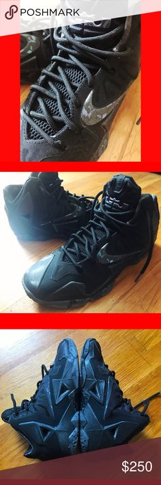"Lebron James 11 ""Blackout"" Size 9. New in a box. These are limited edition so that explains the price. ✨ALL MY SNEAKERS ARE AUTHENTIC✨ Nike Shoes Sneakers"