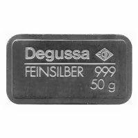 50 Gramm Silberbarren Degussa AG