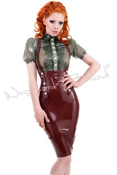 Our latex High Waist Miss-Adventures Pencil Skirt will put a foxy wiggle in your walk.  Worn for us by the International Fetish ...