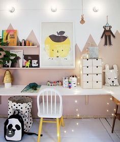 A gorgeous place to work and create from @bloggaibagis #littlepforlittlepeople #kidsroomdecor #childrensroomdecor #playroomdecor #playroom #kids-room #kidzroom #homedecor #decor #decorinspiration #girlsroom #girlsbedroom #kidsatwork