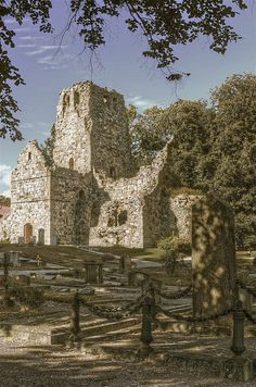 St. Olof Church, Sigtuna, Sweden ~ oldest city in Sweden (980) and the church built circa 1100 is dedicated to Viking King, Olaf Tryggvasson.  Photo: Robban.G