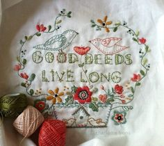 A lovely sampler by Charlotte Lyons.