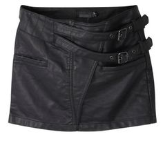 PU Leather Mini with Side Buckles