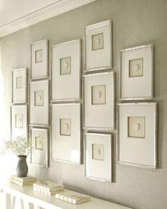 Notice How The Frames Are A Variety Of Sizes But Style And Design Unifies