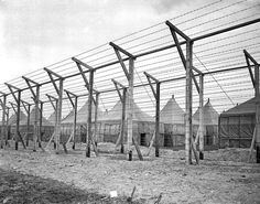 22 Chilling Pictures Of Life At Japanese Internment Camps - The barbed wire fences of the Japanese Internment Camp Upton in New York, Nov, 3, 1941.