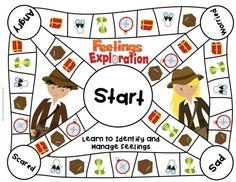 Feelings Game Board for Elementary School Counseling. Tone of voice- understanding that how you say something is just as important (if not more) than what you say. Elementary School Counseling, School Social Work, School Counselor, Elementary Schools, Feelings Games, Feelings Activities, Therapy Activities, Therapy Ideas, Therapy Games