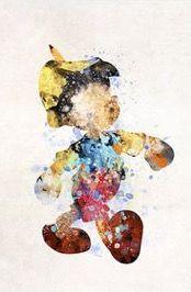 Pinocchio watercolor