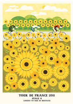 Amazing examples of graphic design posters by  Neil  -  Tour de France Series - portrayed on Veerle's blog 3.0