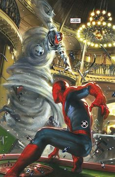 Family Business: Spider-Man vs. Cyclone by Werther Dell'Edera, colours by Gabriele Dell'Otto *