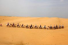 Kubuqi Desert - Inner Mongolia, China    The splendid Kubuqi Desert means bowstring in the Inner Mongolian dialect.