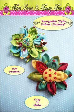 Fabric Flower Fabric Flower Pattern  by FootLooseFancyFree on Etsy, $4.95